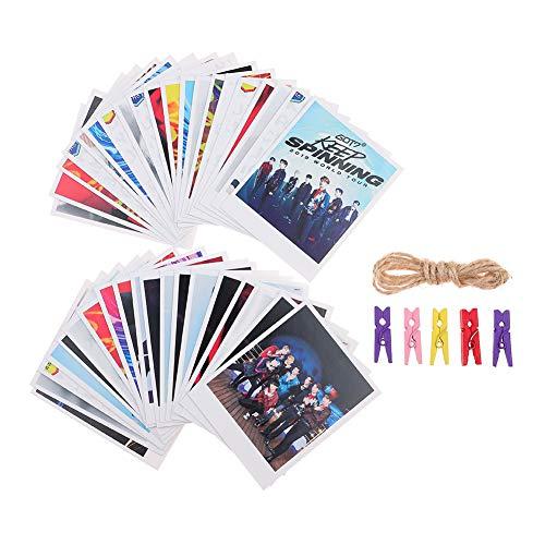 Fat Bear Kpop GOT7 Fotoalbum Spinning Top PhotoCard affiche Lomo kaart geschenk kaart zelfklevend 40 stuks