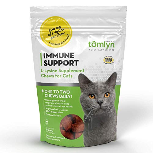 Top 10 best selling list for tomyln immune support l-lysine supplement chews for cats 30 ct
