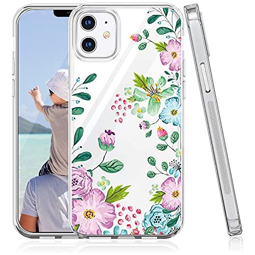 Oihxse TPU Phone Case Compatible con Huawei P9 Lite, Ultra-Fina Silicona Suave Transparente Anti-Rasguño Cárcasa, Diseño de Patrones de Flores, Encajes, Animales y Plantas