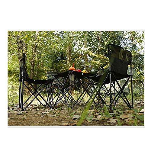 Conjunto de Mesa y Silla de Exterior Conjunto de Mesa y Silla portátil al Aire Libre, Utilizado para Comedor de Cocina al Aire Libre, Mesa de Camping de jardín Plegable y Silla