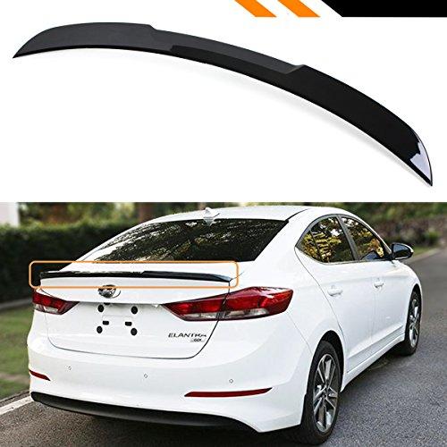 Cuztom Tuning Fits for 2017-2018 Hyundai Elantra Sedan Painted Glossy Black H Style Trunk Lid Spoiler Wing
