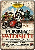 ポマックスウェーデンTTウォールメタルポスターレトロプラーク警告ブリキサインヴィンテージ鉄絵画装飾バーガレージカフェのための面白いハンギングクラフト