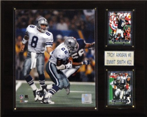 C & I Collectables NFL Aikman-Smith Dallas Cowboys Spieler Plaque