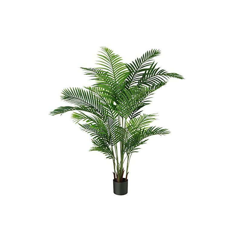 silk flower arrangements fopamtri artificial areca palm plant 6 feet fake palm tree with 20 trunks faux tree for indoor outdoor modern decoration feaux dypsis lutescens plants in pot for home office perfect housewarming gift