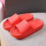Abrir Slide sandalias del dedo del pie del unisex adultas, super zapatillas de suela gruesa de baño baño antideslizante aumentaron zapatillas-36-37_red mudos, zapatos de la piscina de agua liuchang20