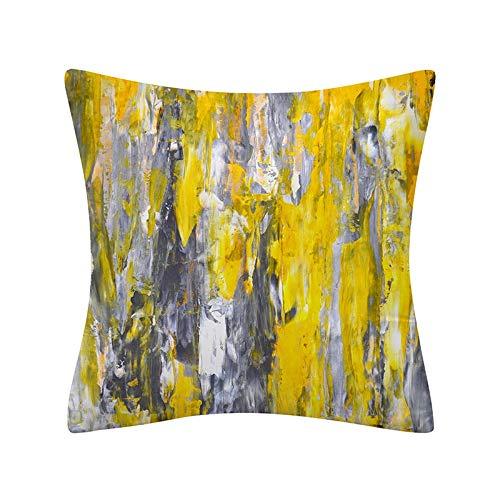PPMP Funda de Almohada geométrica Abstracta Simple decoración del hogar Moderna sofá cabecera Funda de cojín Abrazo Funda de Almohada A13 45x45 cm 2pcs