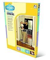 Regalo Easy Step Extra Tall Walk Thru Gate, White Jumbo Size 2-Gate Value Pkg by Regalo