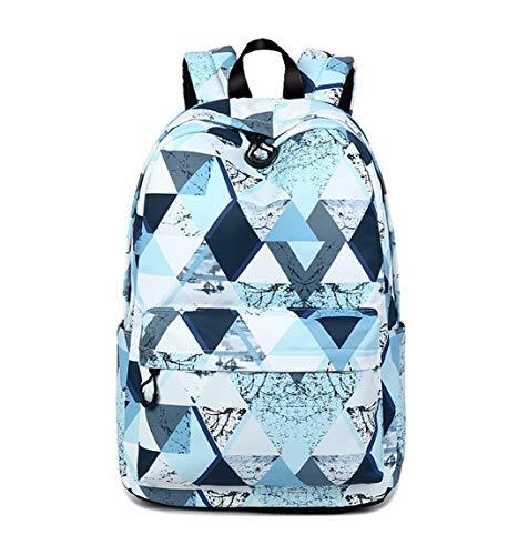 Joymoze Modischer Freizeitrucksack für Mädchen Jugendliche Schulrucksack Frauen Aufdruck Rucksack Geldbeutel (Magisches Blau)