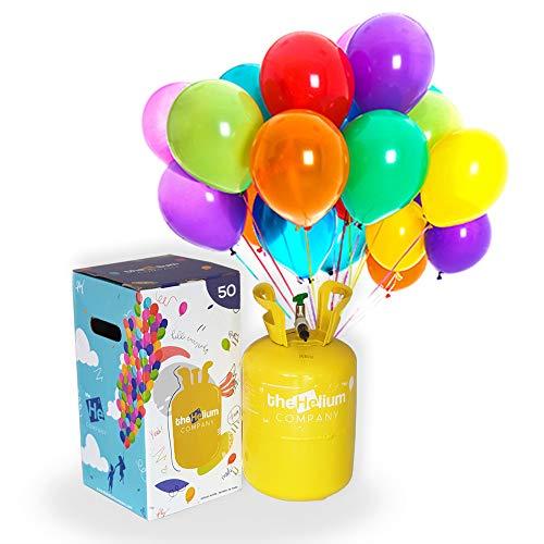 Bombona de Helio para Globos (para 50 globos de látex incluidos)