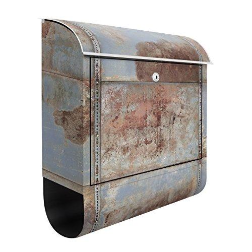 Design Briefkasten Shabby industriellen Metall Optik | 39x 46x 13cm Mailbox Briefkasten Briefschlitz Briefkasten Decor Folie, Maße: 46cm x 39cm
