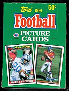1991 Topps Football Wax Pack Box Emmitt Smith Jerry Rice Joe Montana in Set