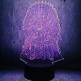 3D Illusion Led Night Light Novedad Lámpara Juego Led Throne Una canción de hielo y fuego Se acerca el invierno Decoración para el hogar Gifts-Touch