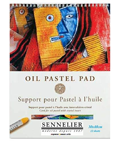 Sennelier - Espiral de Aceite Pastel, 12 Hojas, 340 g/m2, con separadores...