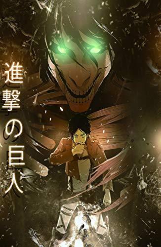 28 cm x 43 cm Attack on Titan Poster popolare Poster anime giapponesi 11x17 inches