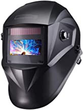 TACKLIFE Welding Helmet Solar Power Auto Darkening, Full Shade Range 3/4-8/9-13, UV/IR..