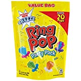 Ring Pop Individually Wrapped Variety Party Pack – 20 Count Candy Lollipop Suckers w/ Assorted Flavors-Stocking Stuffer and Gift Addition