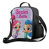 IUBBKII Bolsa de almuerzo con aislamiento Shimmer and Shine 1 Lunch Bag Cooler Bag Lunch Box Soft Liner Lunch Bags for School