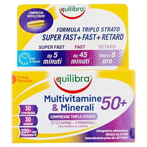 Equilibra Multivitamine & Minerali 50+ 30 Cpr Triplo Strato - 70 Gr