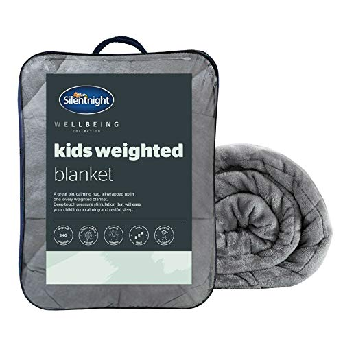 Silentnight Weighted Blanket - Anxiety Relief Therapy Blanket for Children - Kids Sensory Heavy Quilted Wellbeing Blankets, 3kg (kids)