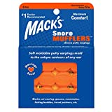 Mack's Snore Mufflers Silicone Putty Ear Plugs - 6 Pair - Comfortable, Moldable Silicone Ear Plugs for Sleeping, Snoring, Loud Noise & Traveling
