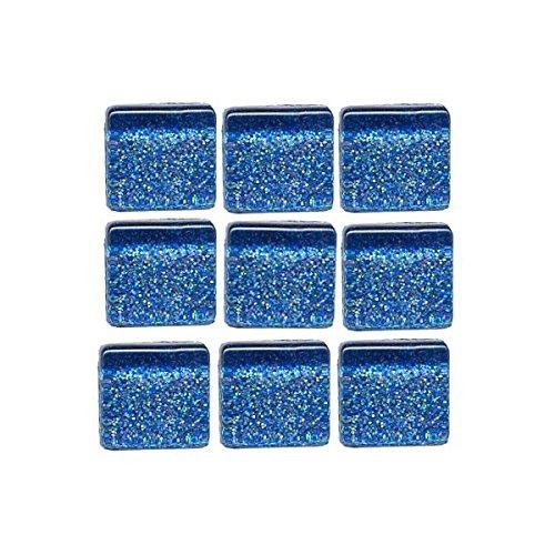 MosaixPro 10x 10x 4mm 200g 215-piece Fliesen Glas Glitzer, Blau
