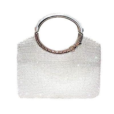 Clutch Evening Bag, Fit & Wit Giltter Beaded Flap Clutch Evening Handbag Purse
