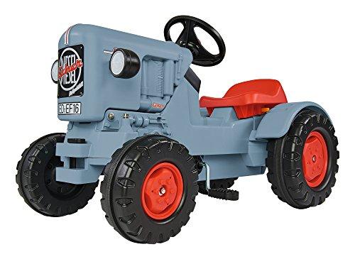 BIG, Traktor Eicher Diesel ED 16, Trettraktor mit 3-Stufen Sitzverstellung, Kinderfahrzeug mit Präzisionskettenantrieb, Tretfahrzeug für Kinder ab 3 Jahren