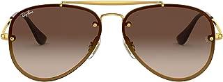 Ray-Ban Unisex-Child 0rj9548sn 0RJ9548SN Aviator Sunglasses, Gold, 54.0 mm