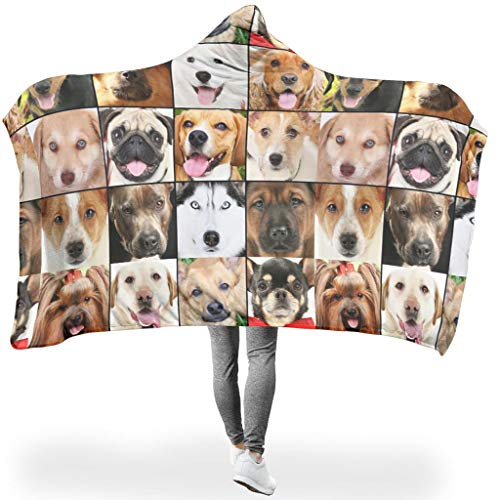 Rcerirt licht kleurloze hoodie wearable super soft throw blanket vierkant dekbed voor het hele jaar door voor kantoor in de winter warme stijl wit 130x150cm