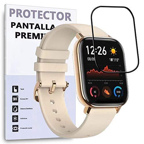 Protector de Pantalla Curvo para XIAOMI AMAZFIT GTS, Negro, Reloj SmartWatch, 3D   4D   5D