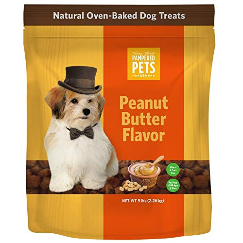 Pampered Pets USA - Oven-Baked Dog Treats, Soft and Delicious Peanut Butter (5 lb)