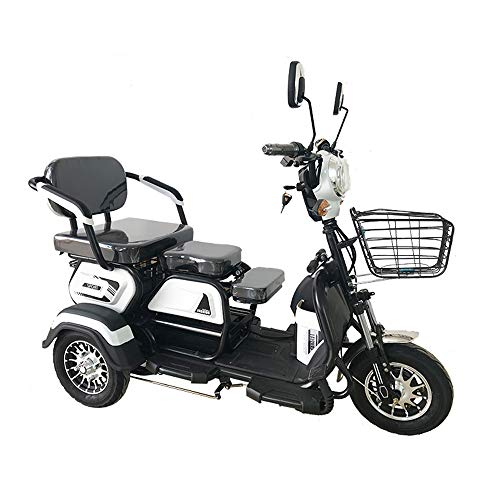 Sunzy Elektro-Dreirad Mobile Reise motorisierte Roller 60V20A / 25 km/h kann 45-55KM Fahren kann 660LB maximale Belastung 3 Personen tragen