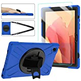 Samsung Tab A7 Case for Kids with Glass Screen Protector | SIBEITU Galaxy Tab A7 10.4 Case 2020 | Full Body Shockproof Protection Cover with Stand Hand & Shoulder Strap for SM-T500/T505/T507 Blue