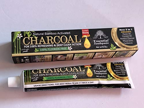 Natural Bamboo Activated Charcoal Essential Toothpaste 100 Fluoride Free