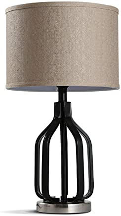 テーブルランプ レトロシンプルな布製テーブルランプリビングルームベッドルームベッドサイドランプスタディランプE27光源* 1 A+
