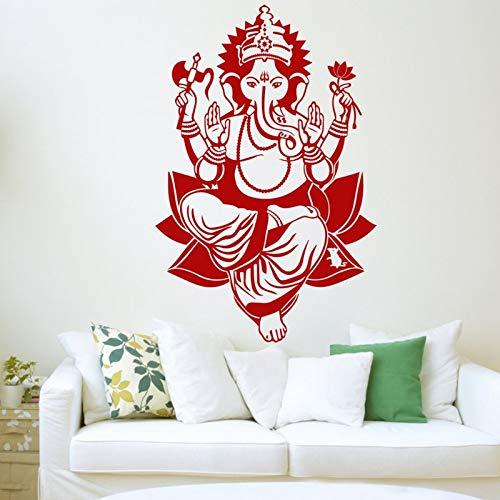 Hauptwandaufkleber Vinyl Hindu Gott Elefant Aufkleber Schimmel Kunst Geschenk Wohnzimmer Wand wasserdichte Tapete A4 42x64cm