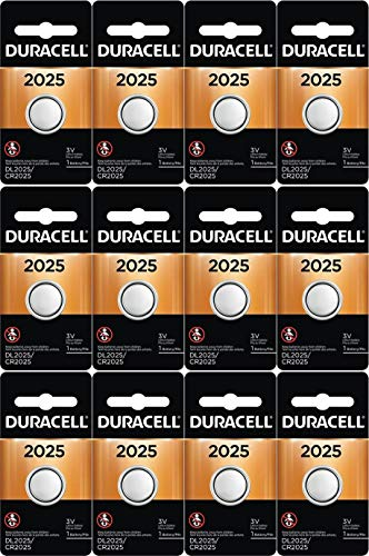12-Pack Duracell 2025 Batteries 3.0 Volt Lithium Coin Button