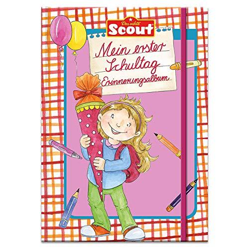 Scout - Mein erster Schultag Erinnerungsalbum (Mädchen) (Scout Erstlesebücher)