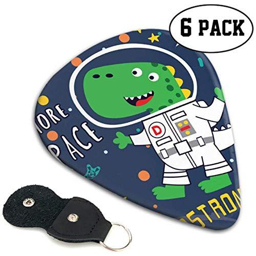 Astronaut dinosaur In The Space Professional gitaarpicks kostuum gitaarpicks 6 stuks Heavy, elektrische akoestische gitaarsT