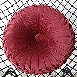 ZOUDIN Im Japanischen Stil Bodenkissen Sitzkissen Pad Atmungsaktiv Gepolsterte Flache Sitzbank,Tatami Kissen Am Besten Für Zen,Yoga-Praxis Oder Buddha-Meditation-f 38x38cm(15x15inch)