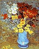 Pintura Al Óleo De Bricolaje Margaritas De Colores Abstracto Cuadro Por Números Kits Pintura Número Imagen Láminas De Manualidades Con Pintura Por Números Decoración De Sala 40X50