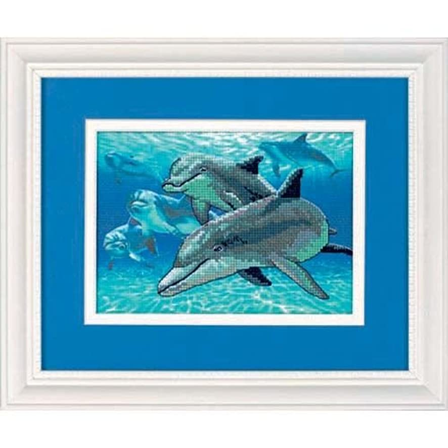 Dimensions Needlecrafts 6944 Dimensions Gallery No Count Cross Stitch, Deep Sea Dolphins (6944)