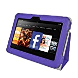 Supcase Slim Fit Leather Case Cover (Purple) for Amazon Kindle Fire HD 7