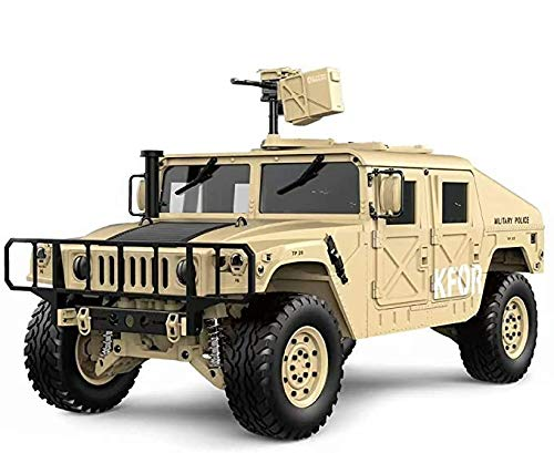 s-idee® HG P408 Sand RC 1/10 2.4G 4WD 16CH 30 km/h Rc Model Car U.S.4x4 Military Vehicle Truck incl.
