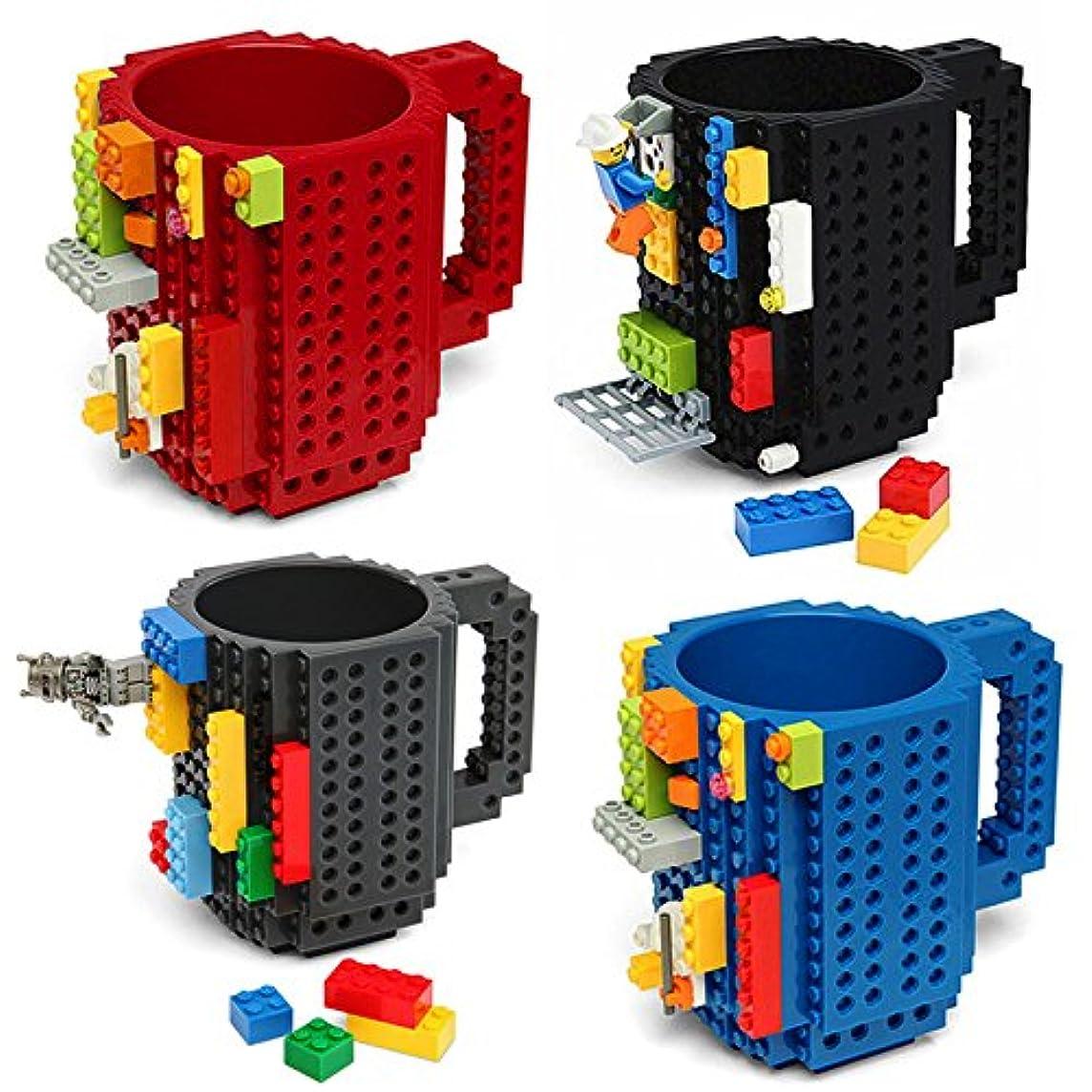 発明処分したエッセンスSENLIN 350ミリリットルクリエイティブコーヒーマグ旅行カップカトラリーレゴマグドリンクミキシングカップ食器セット子供用