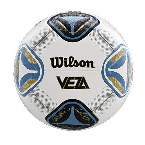 Wilson Veza Soccer Ball, Size 5, White/Blue