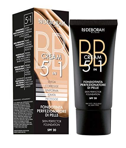 Deborah BB Cream N.05 Amber SPF20, Idrata e Nutre, Corregge le Imperfezioni e Uniforma l'Incarnato, Protegge dall'Inquinamento e dai raggi UV