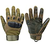 Xnuoyo Gomma dura Knuckle Full Finger e Mezza Finger Gloves Guanti Touch Screen Guanti per...