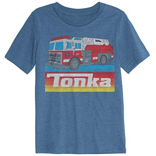Jumping Beans Toddler Boys Tonka Fire Truck SS Tee 2T Blue
