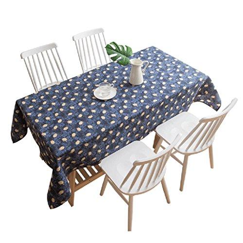 Nclon Antifouling Coton Chanvre Nappe,Animal Carré Rectangulaire Table à Manger Table à Thé Nappe De Table Peau-Amical-Bleu 130 * 180cm